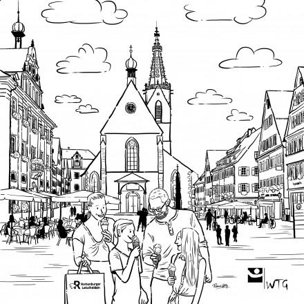 Marktplatz Rottenburg am Neckar